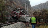 Машинистът спрял влака навреме,можело е да стане голяма касапница