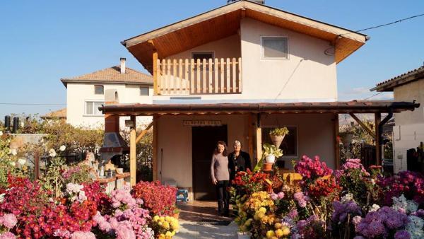 Цветна градина в Струмяни привлича погледите на туристи