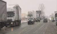 Важно!На ГКПП-Кулата -Промахон пак спряха камионите заради снега!