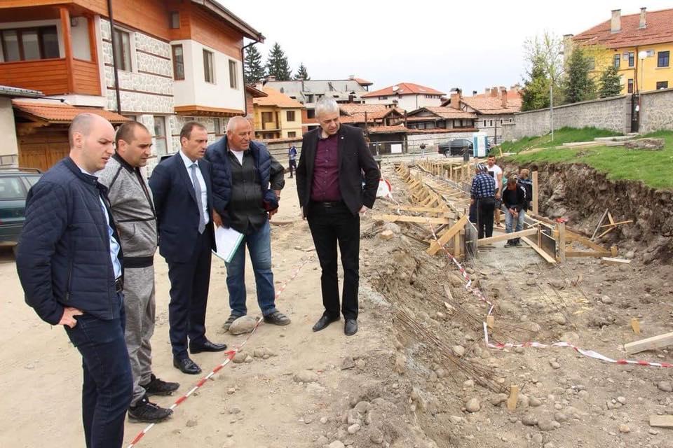 В Банско стартираха строителните работи по  улиците Пирин и Гоце Делчев