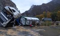 Два тира се удариха в Кресненското дефиле, загина 30-годишен шофьор