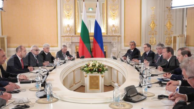 Радев поиска Български поток  при визитата си  в  Москва