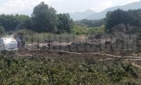 Министърът на околната среда и водите  Емил Димитров посети мястото на авариралия газопровод