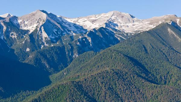 Обраха турист в планината